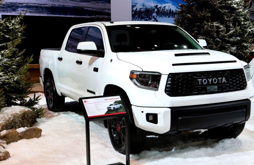 The 2020 Toyota Tundra TRD Pro on display