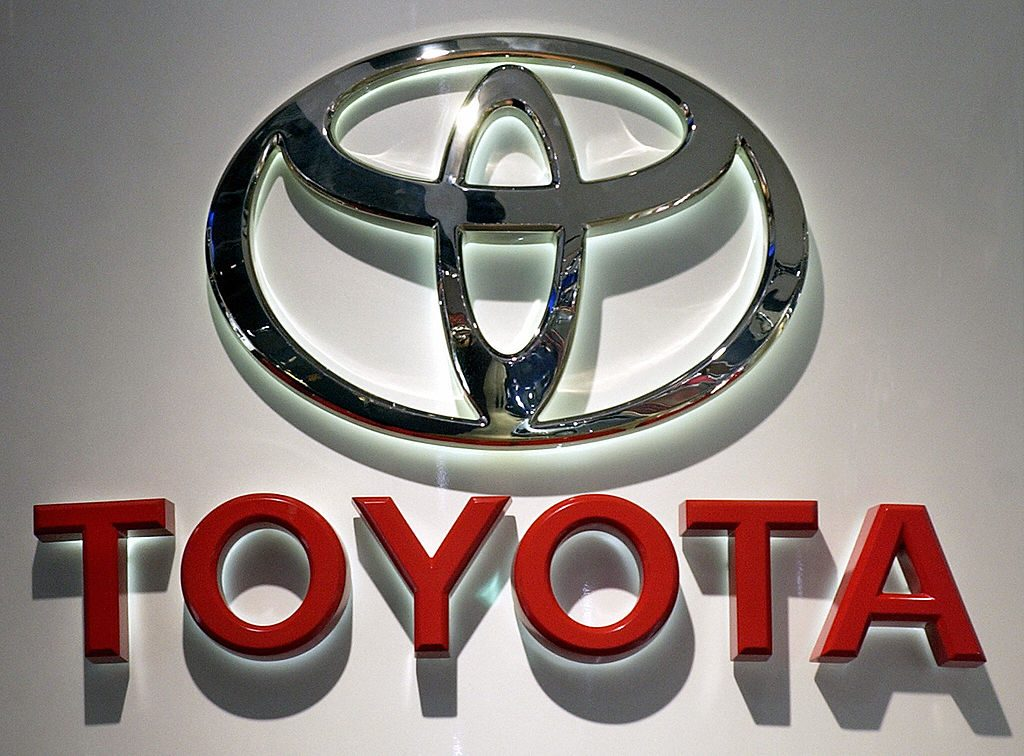 The Toyota corporate logo