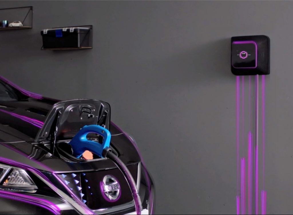 Wallbox Quasar bi-directional EV charger with Nissan Leaf