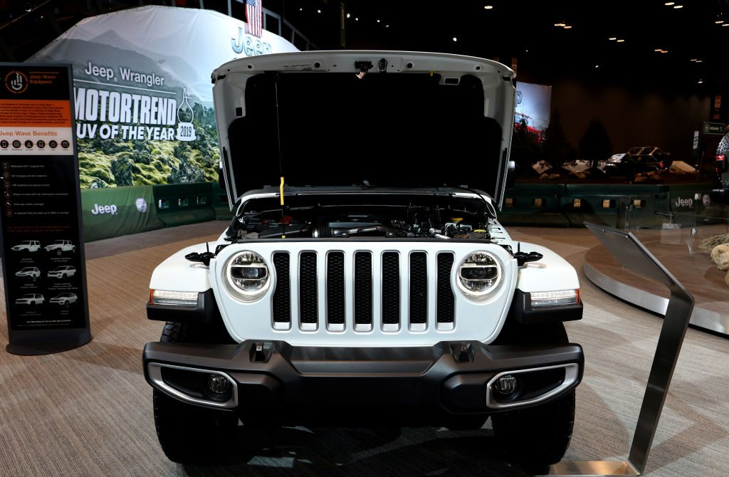 2019 Jeep Wrangler Sahara is on display at the 111th Annual Chicago Auto Show