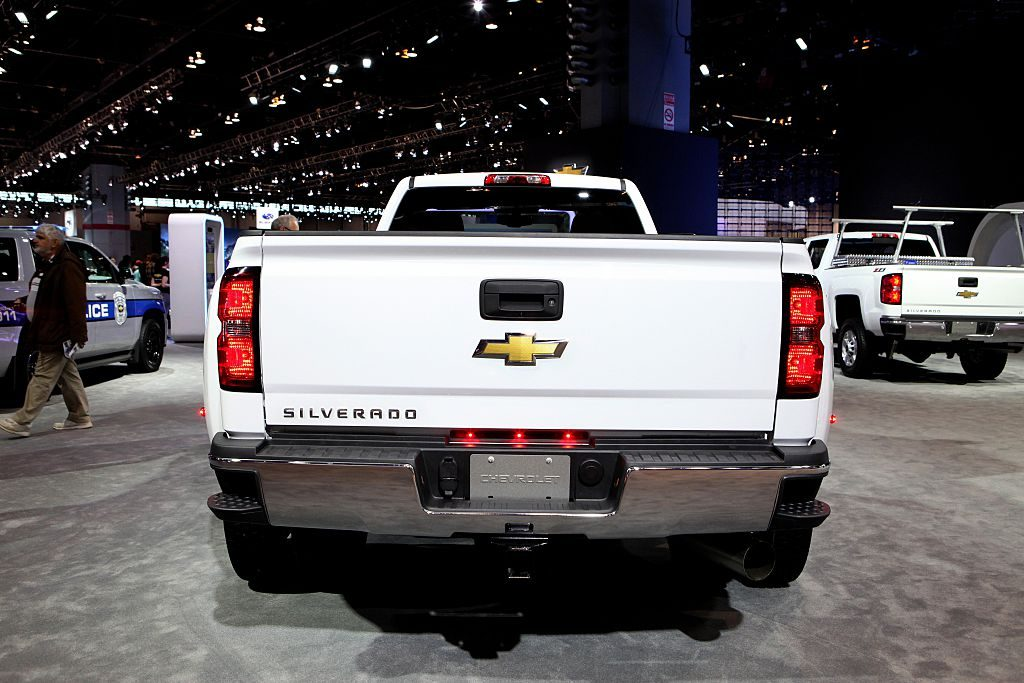 2016 Chevrolet Silverado 3500 HD truck is on display at the 108th Annual Chicago Auto Show at McCormick Place