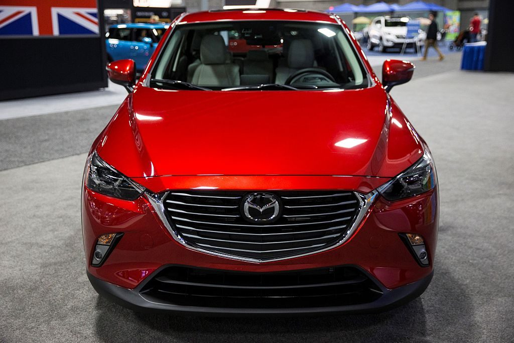 A 2016 Mazda CX-3 on display at the Washington Auto Show in Washington, USA