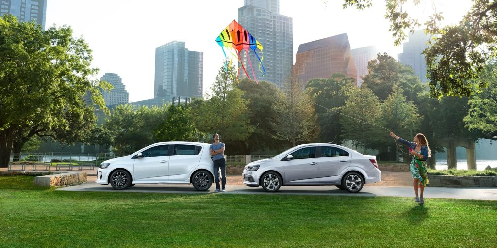 2019 Chevrolet Sonic sedan and hatchback