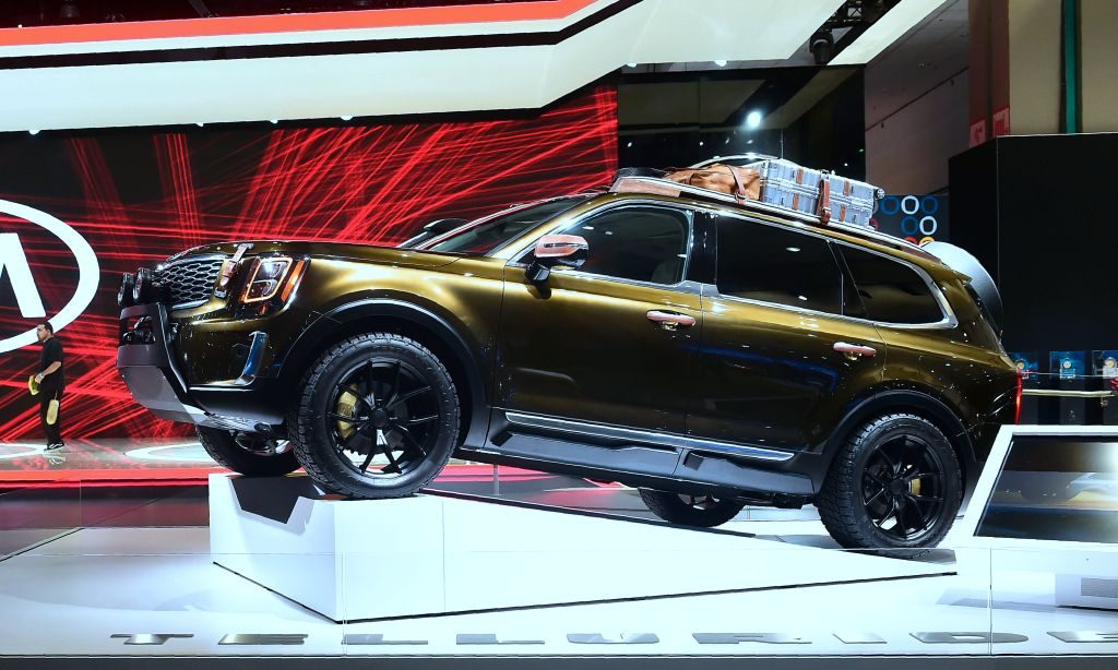 Kia Motors Telluride luxury SUV, due out in 2019 is on display in Los Angeles, California on November 29, 2018 at Automobility LA, formerly the LA Auto Show