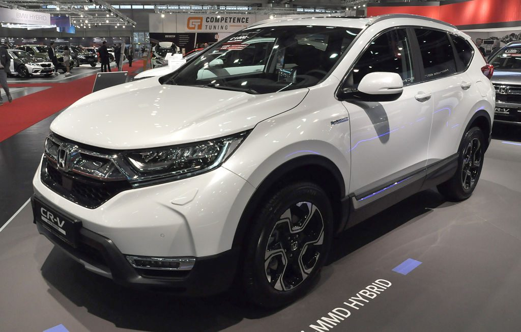 A Honda CR-V is seen during the Vienna Car Show press preview at Messe Wien, as part of Vienna Holiday Fair, on January 15, 2020