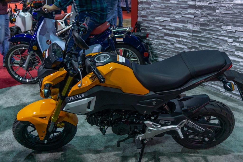 2020 Honda Grom with 2020 Honda Super Cub
