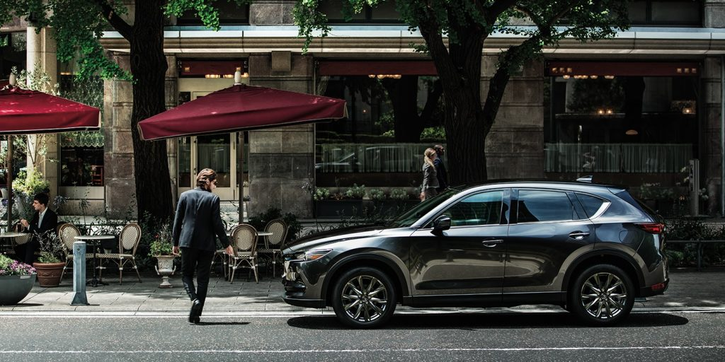2020 Mazda CX-5 shown as a luxurious a comfortable crossover SUV for city driving