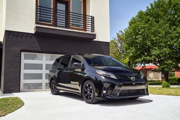 2020 Toyota Sienna parked outside of a house on the driveway