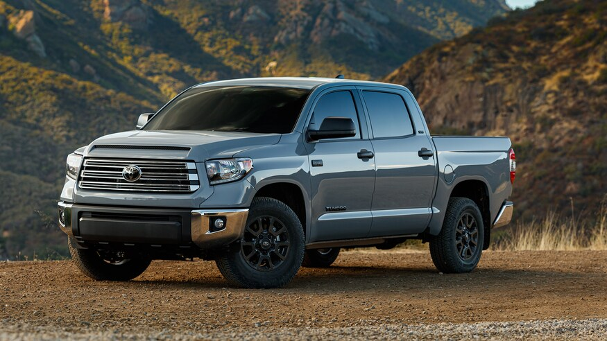 2021 Toyota Tundra Trail Edition parked near mountains