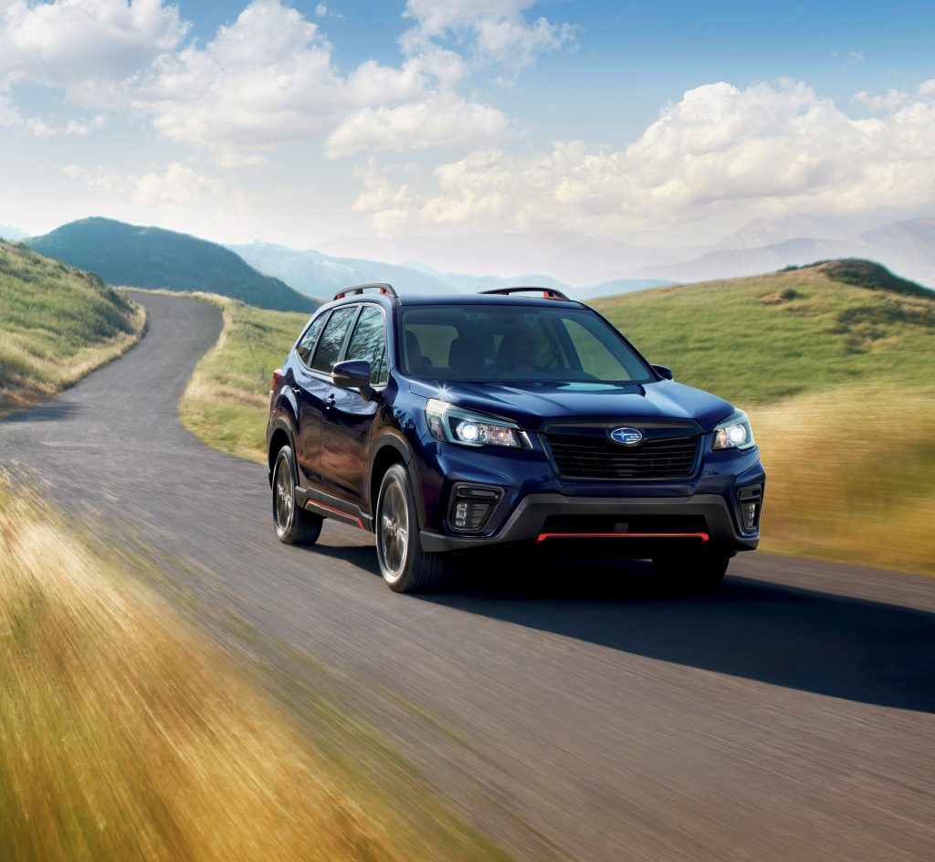 2019 Subaru Forester Sport on the track.