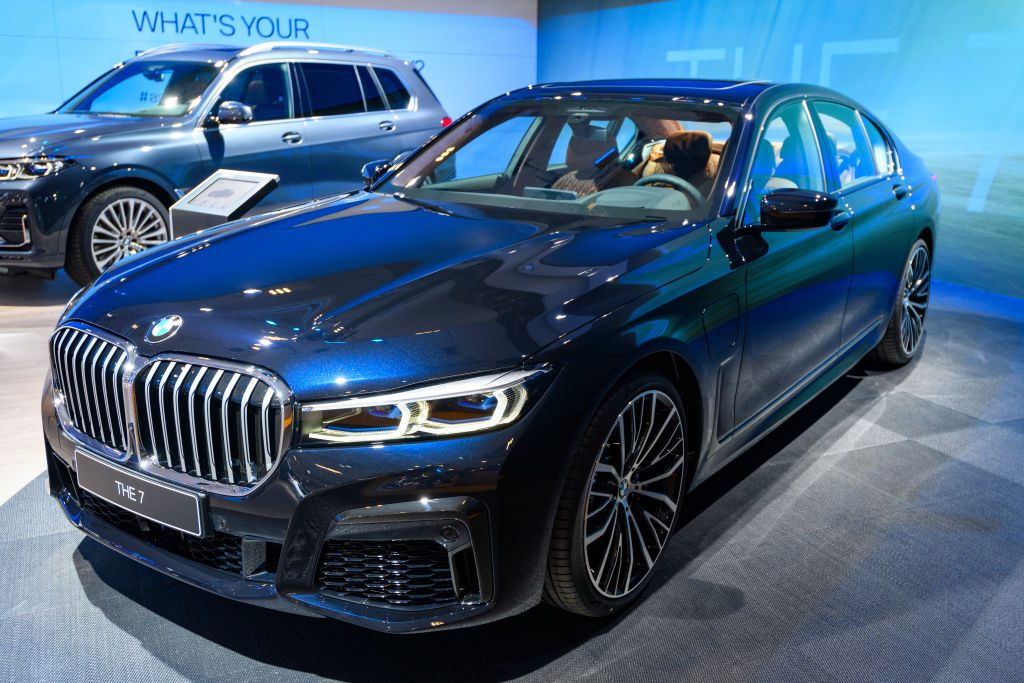 "BMW 7-Series 745e plug-in hybrid luxury limousine""non display at Brussels Expo"