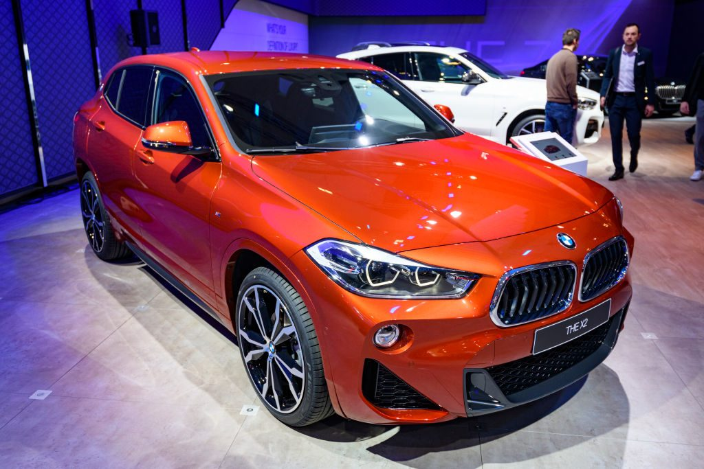 BMW X2 compact crossover SUV on display at Brussels Expo