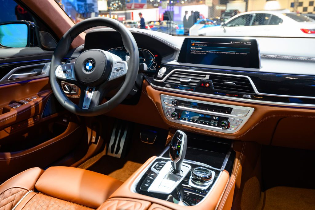BMW 7-Series 745e plug-in hybrid luxury limousine interior
