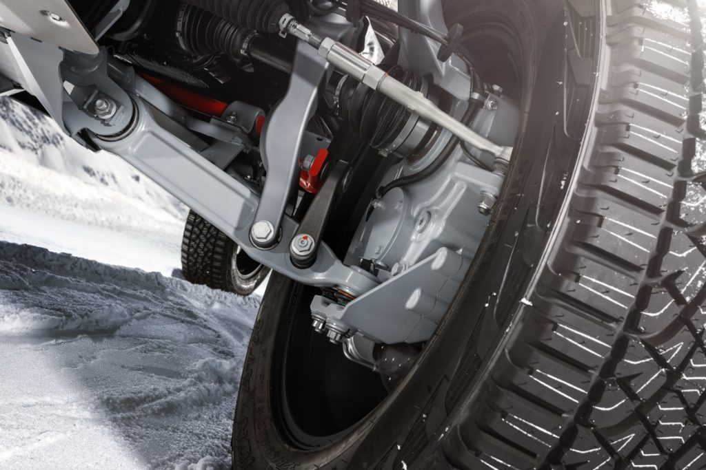 Brabus 800 Adventure XLP axle and suspension detail