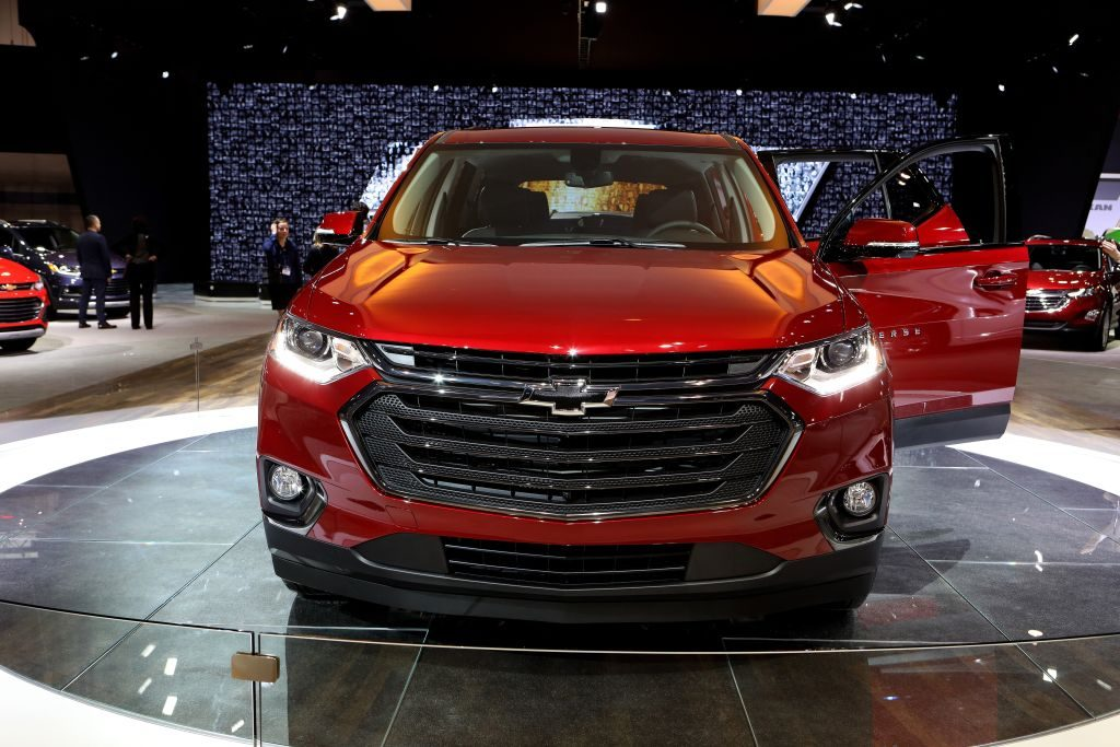 2018 Chevrolet Traverse is on display at the 110th Annual Chicago Auto Show at McCormick Place