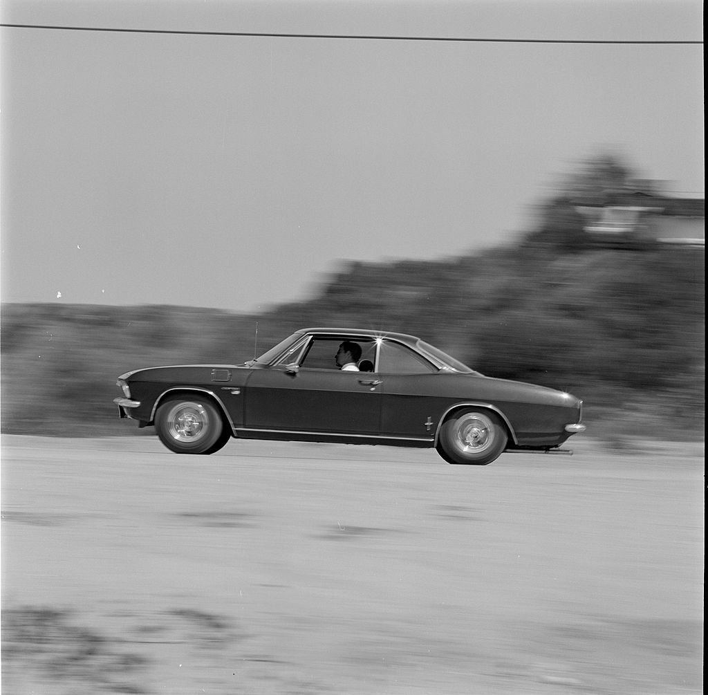 a 1966 Chevrolet Corvair like the one in the Netflix series the Queen's Gambit