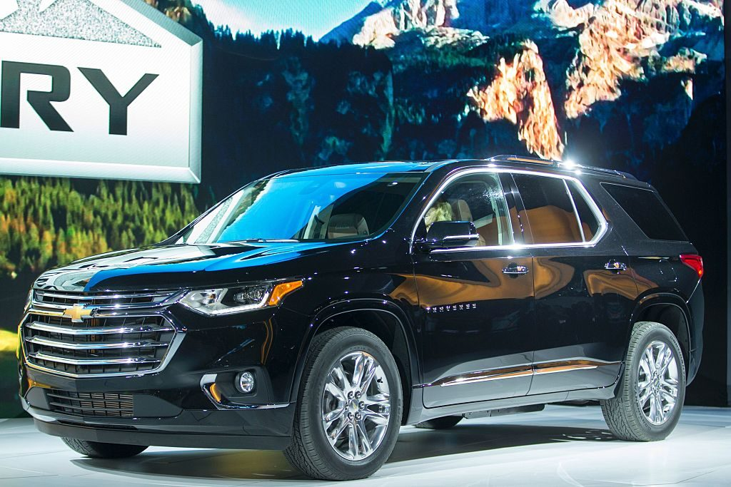 Chevrolet introduces the new Traverse High Country during a press conference at the 2017 North American International Auto Show