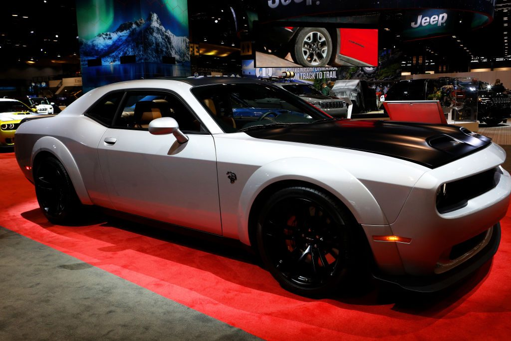 2020 Dodge Challenger SRT Hellcat Redeye is on display at the 112th Annual Chicago Auto Show