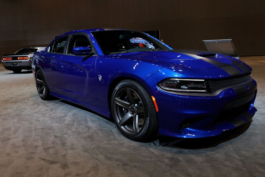 2018 Dodge Charger SRT  Hellcat is on display at the 110th Annual Chicago Auto Show