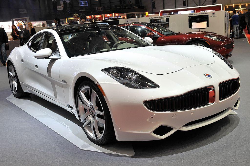 white karma sedan