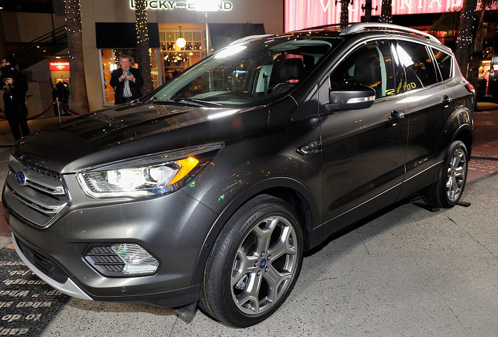 The new Ford Escape is revealed on Hollywood's red carpet in advance of the 2015 Los Angeles Auto Show on November 17, 2015