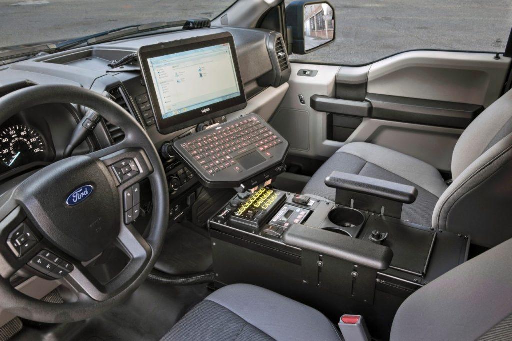 Ford Police Responder police truck interior