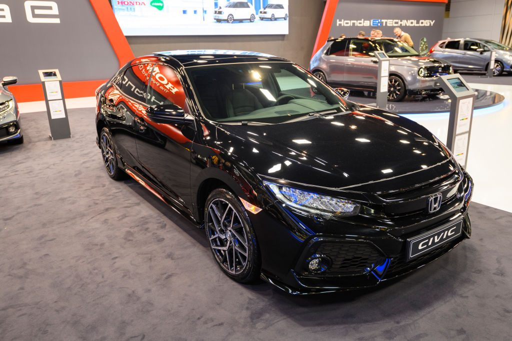 Honda Civic on display at Brussels Expo on January 9, 2020