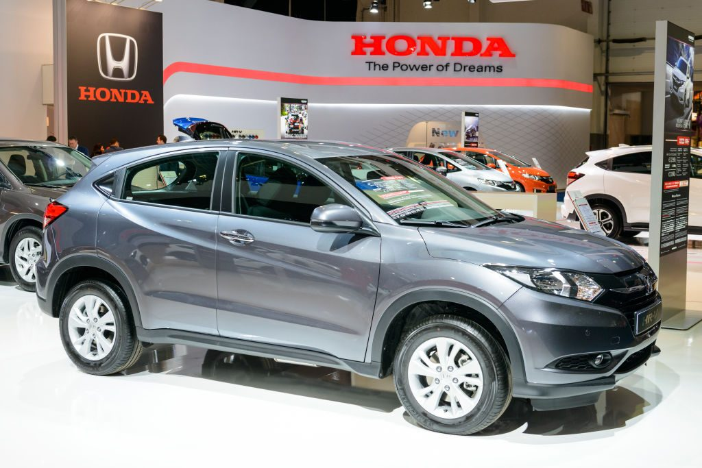 A Honda HR-V on display at an auto show