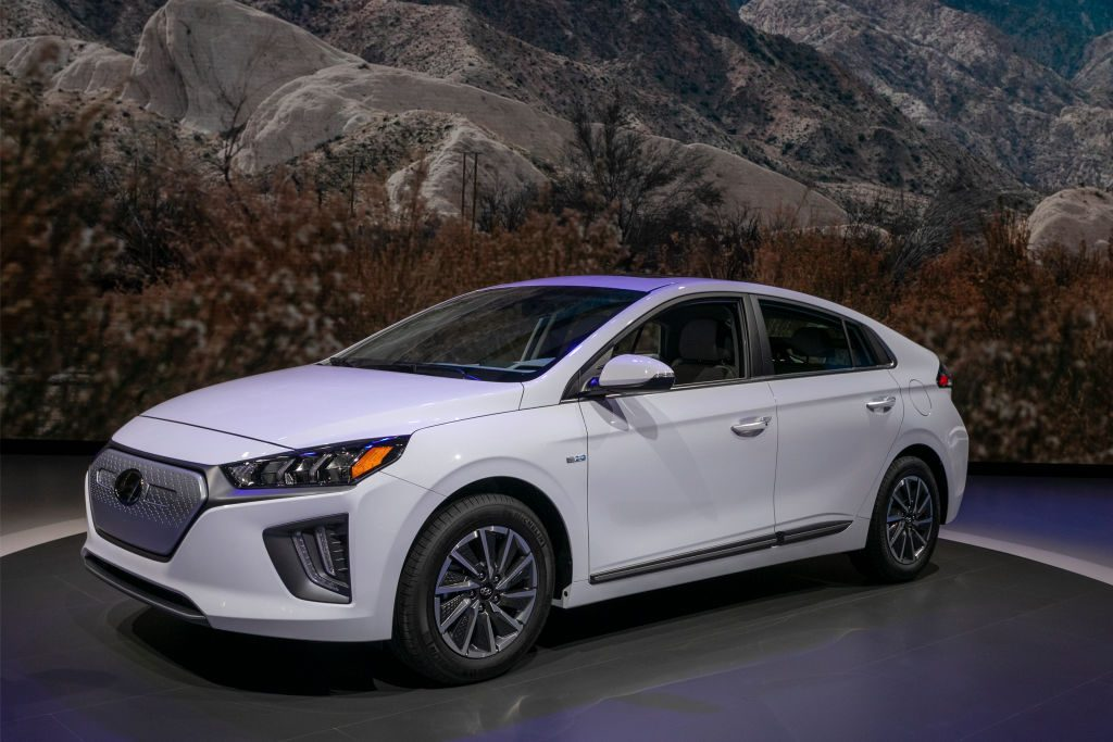 The Hyundai Ioniq is shown at AutoMobility LA on November 21, 2019