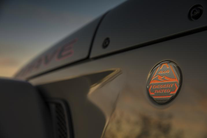 Jeep Gladiator Mojave Desert-Rated badge