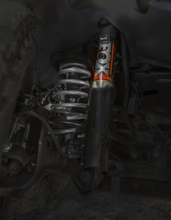 FOX shock absorbers on a Jeep