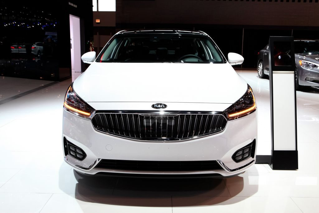 2017 Kia Cadenza is on display at the 109th Annual Chicago Auto Show at McCormick Place