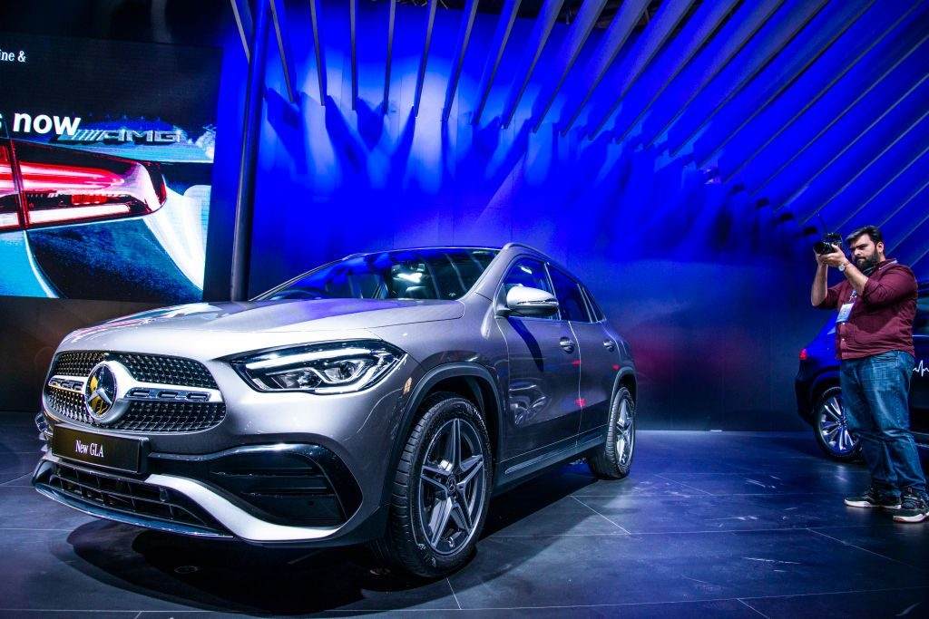Mercedes-Benz GLA on display at Auto Expo 2020