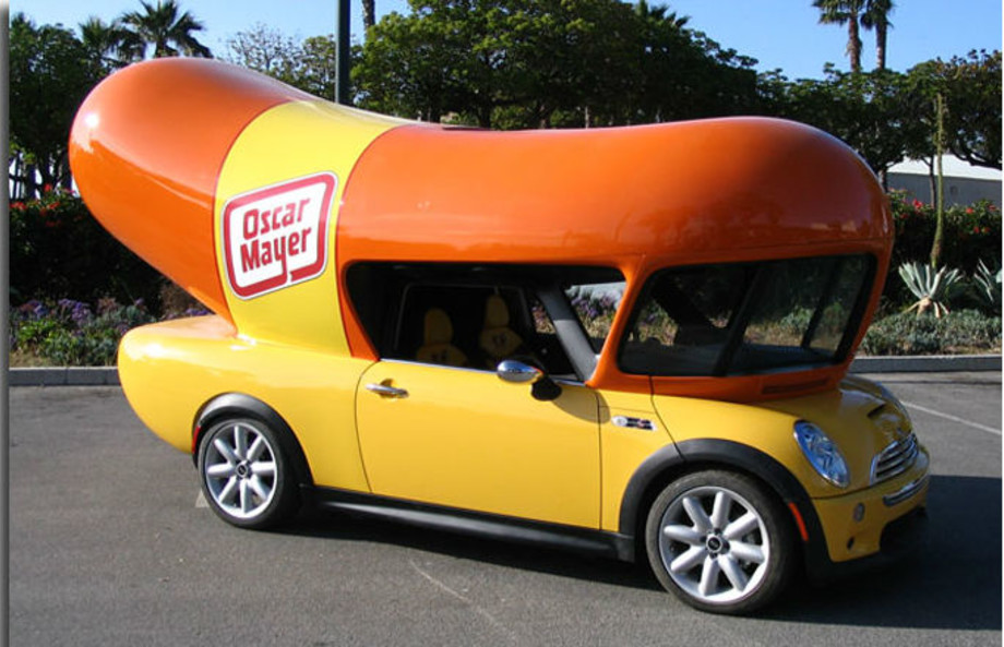 Mini Cooper Wienermobile | Oscar Mayer
