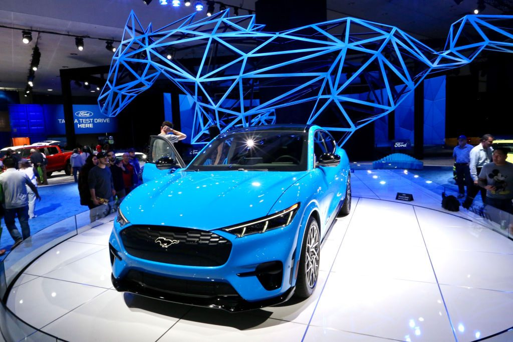 The Ford Mustang Mach-E SUV at its debut event