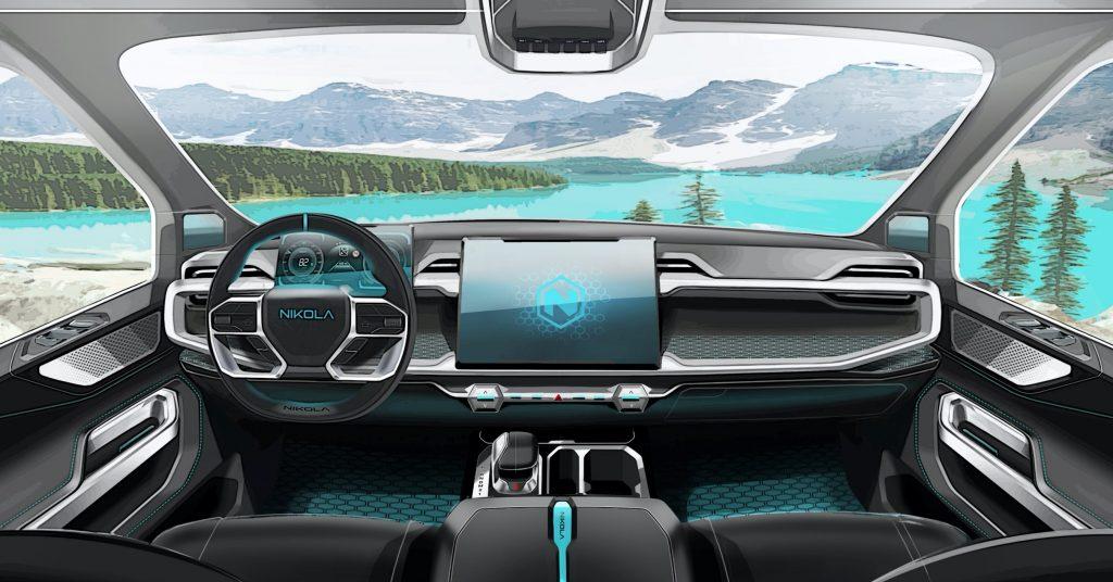 Nikola Motors Badger interior rendering