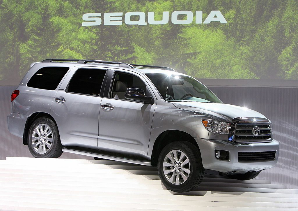 The new Toyota Sequoia is unveiled during the Los Angeles Auto Show in Los Angeles