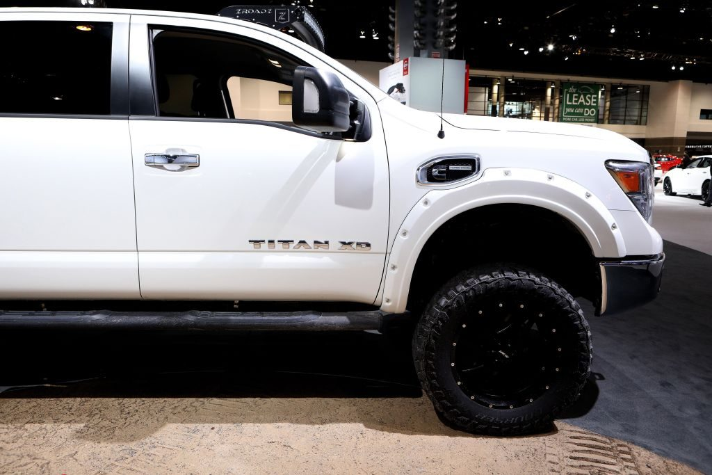 2018 Nissan Titan XD is on display at the 110th Annual Chicago Auto Show at McCormick Place