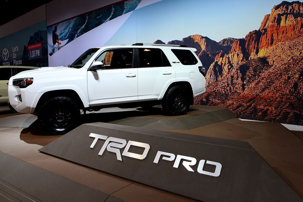 A Toyota 4Runner TRD Pro on display at an auto show