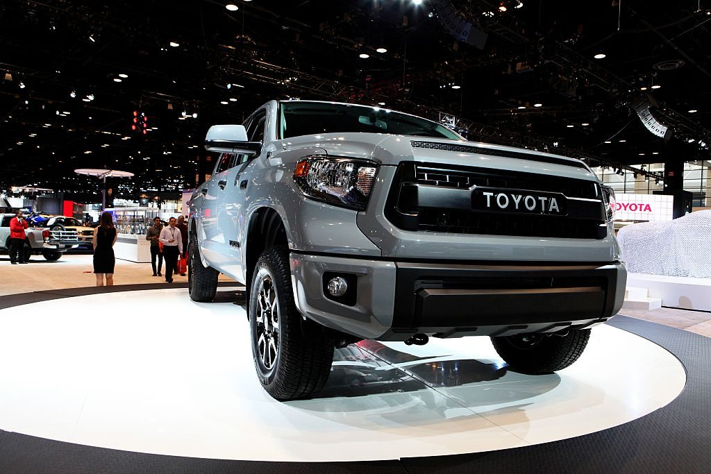 2016 Toyota Tundra is on display at the 108th Annual Chicago Auto Show at McCormick Place