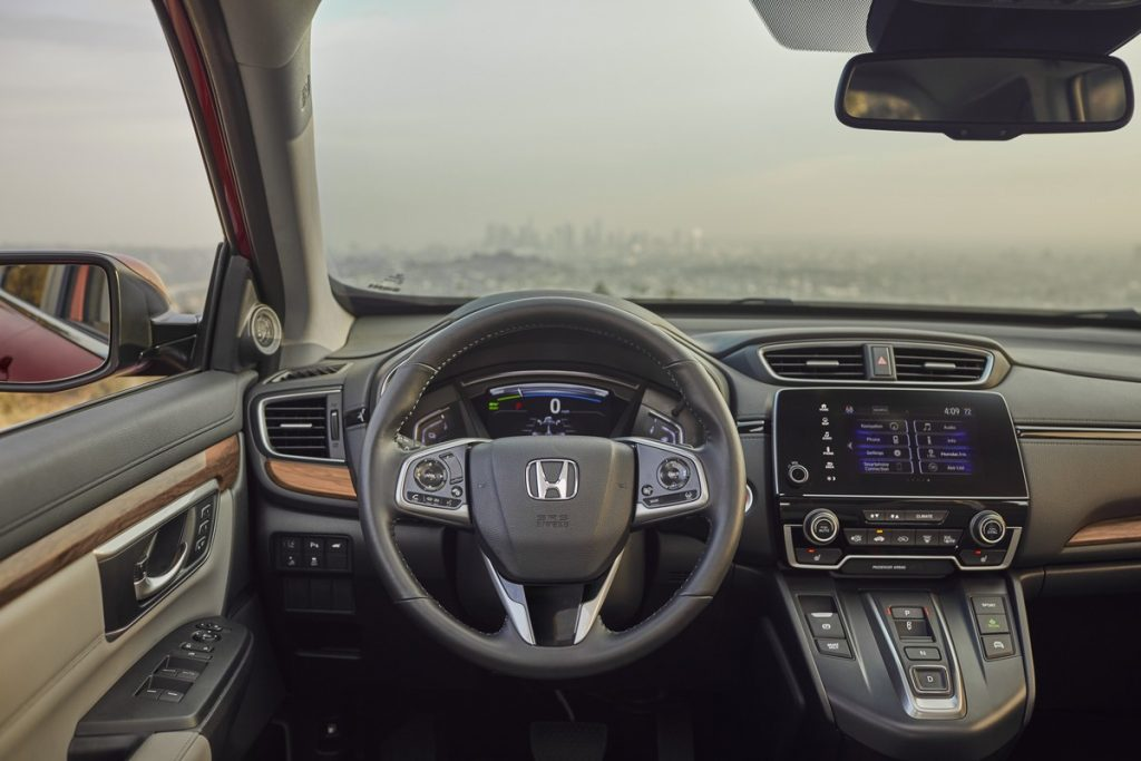 interior view of the 2020 Honda CR-V Hybrid