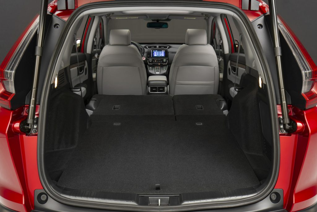 2020 Honda CR-V Hybrid cargo space with seats folded flat