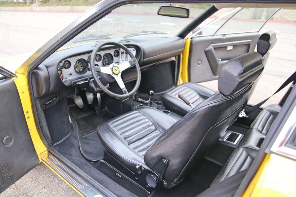 1975 Ferrari 308 GT4 interior