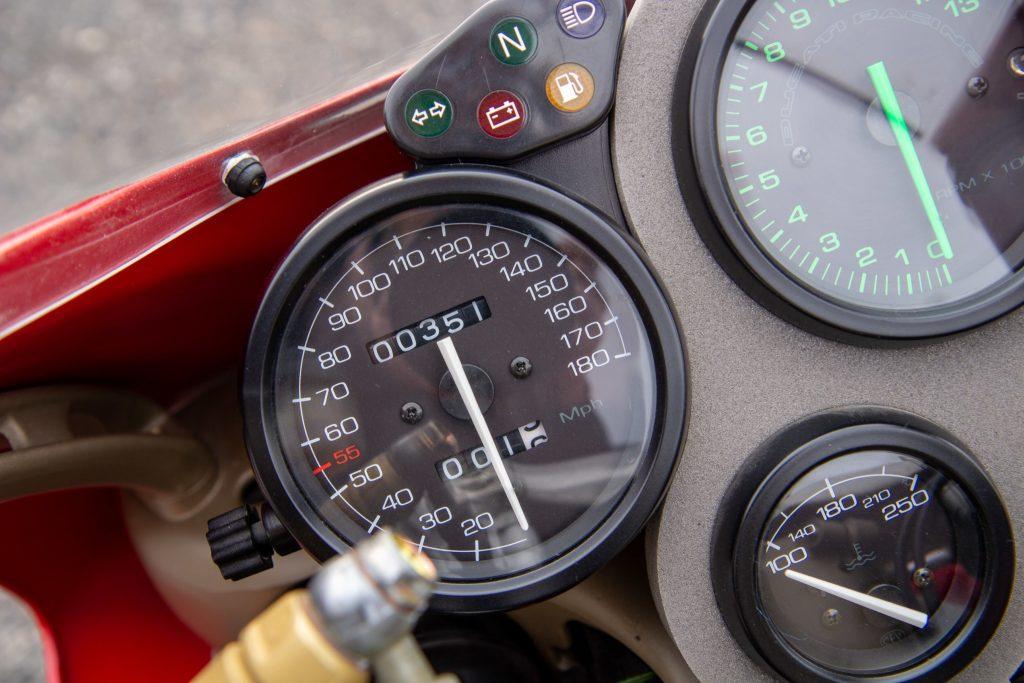 1997 Ducati 916S odometer detail