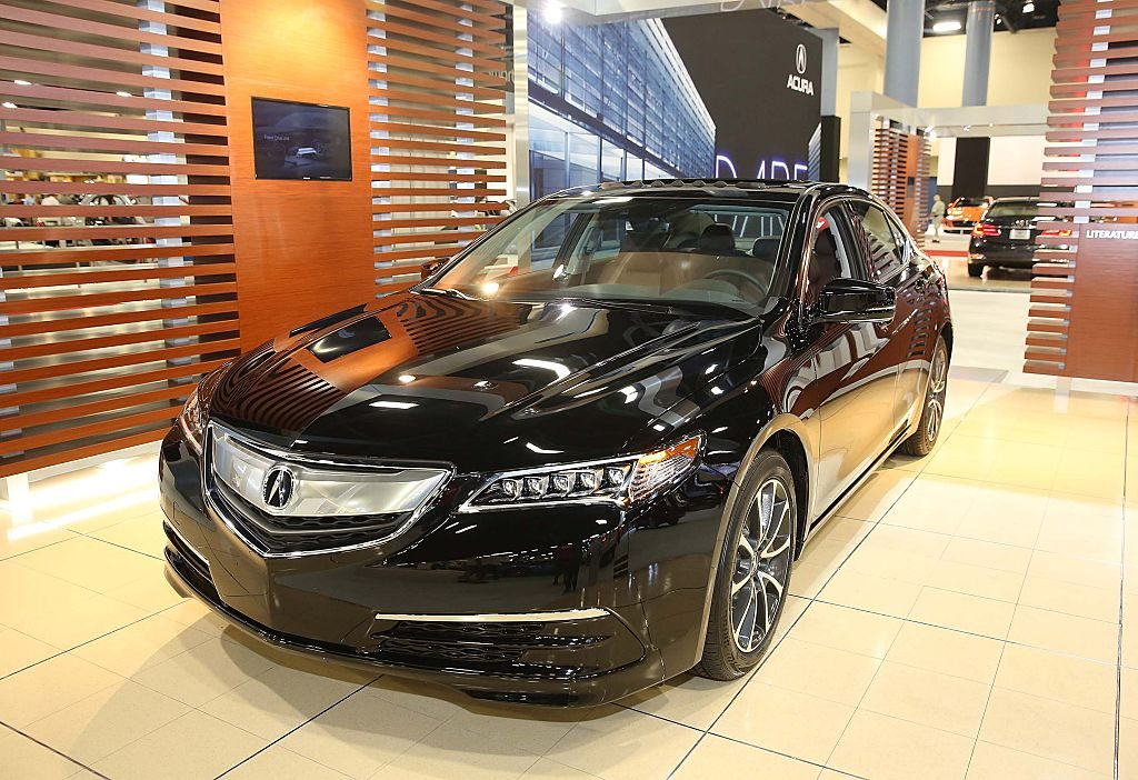 A 2015 Acura TLX on display