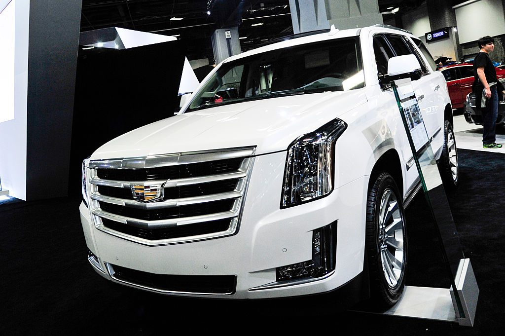 A 2016 Cadillac Escalade is on display during The Washington Auto Show at the Washington Auto Show