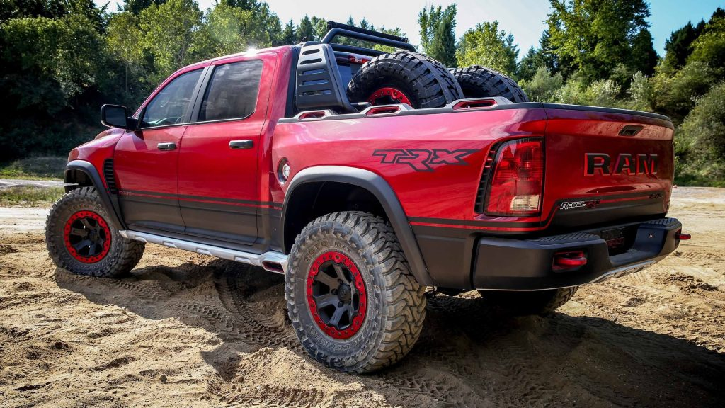 2017 Ram Rebel TRX Concept pickup rear