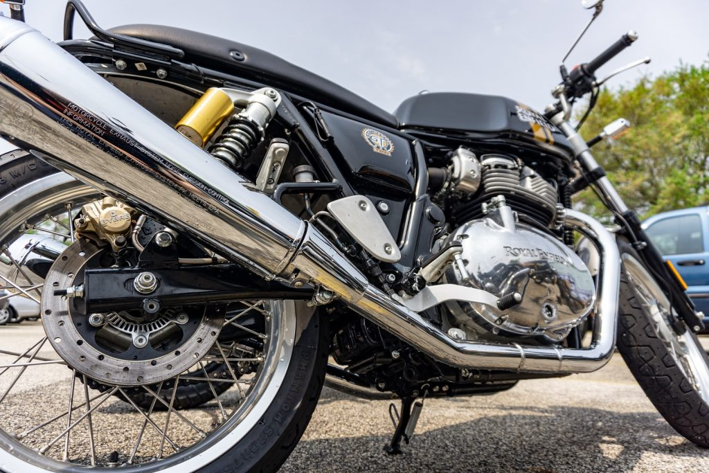 2019 Royal Enfield Continental GT 650 low angle