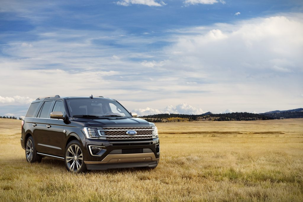 2020 Ford Expedition outside in field.