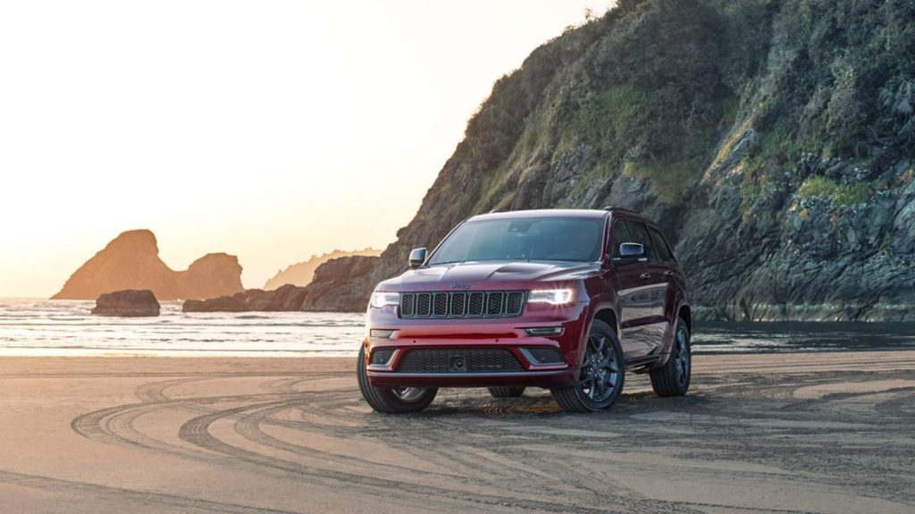 2020 Jeep Grand Cherokee parked near beach